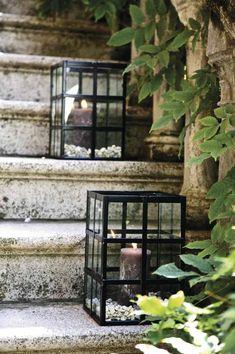 lanterne jardin deco esclaier exterieur