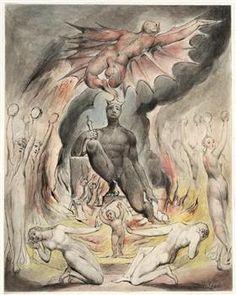 Illustration to Milton`s On the Morning of Christ`s Nativity - William Blake