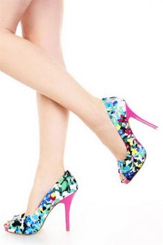 Awesome Multi colored heels review