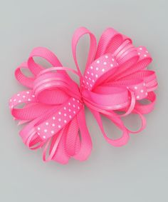 Take a look at this Bourbon Street Boutique Bubble Gum Pink Polka Dot Clip on zulily today!