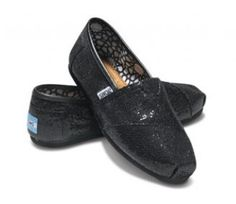 Toms Glitter For Women Black Breathable Outlet 01