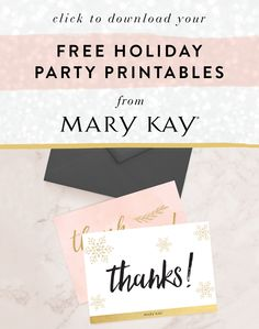 Download free holiday party printables from Mary Kay.