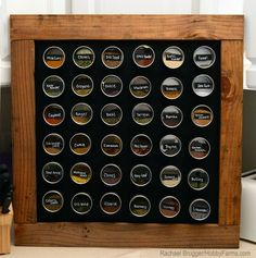 To forever ditch the spice cupboard of horror and tidy up my jars of basil, oregano, cumin and coriander, I made this simple and inexpensive magnetic chalkboard using mostly upcycled materials found around my home.