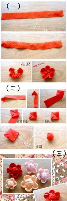 布艺小花朵DIY教程,赶快学起来吧!