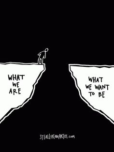 What we are vs. what we want to be by Austin Kleon