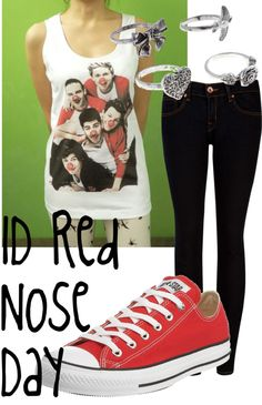 """""""1D Red Nose Day :)"""" by natebiendara on Polyvore"""