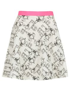 Off-white key print flared skirt  BY MASABA LITE.
