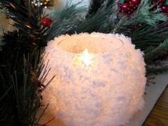 Snowball votives....pretty and so easy to make!!