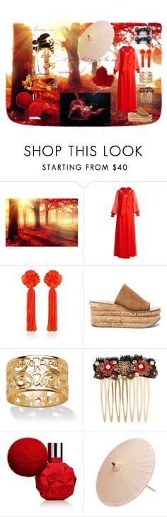 """Autumn Beauty"" by jojohanakana on Polyvore featuring Lanvin, Chloé, Palm Beach Jewelry, Dolce&Gabbana, Børn, NOVICA, beautiful and polyvorefashion"