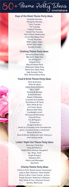 Here's a list of 50+ fantastic Theme Party Ideas for your direct sales biz! Be sure to share with your teams!