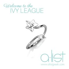 Ivy Leaf Wrap Ring - Available in Silver, Gold & Rose Gold | Welcome to the Ivy League