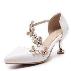 899a9794ac35af Chaussure De Mariée · Femme Polyuréthane Printemps été Chaussures à Talons  Kitten Heel Bout pointu Rivet / Couture en Dentelle
