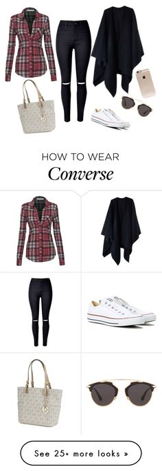 """No name!"" by lella-336 on Polyvore featuring WithChic, Acne Studios, Converse, Michael Kors, Christian Dior and Incase"