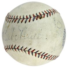 da22fa054 This Autographed William Harridge Oal Baseball has been Personally Signed  by Babe Ruth & Lou Gehrig of the New York Yankees.