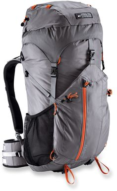 REI Flash 50 pack. Just like the others. Capacity = 3050 cu. in. Weight = 2 lb. 10 oz. $150