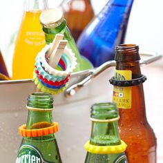 Which one is mine?  Set the standard for keeping track of your beverage with these bottle markers.