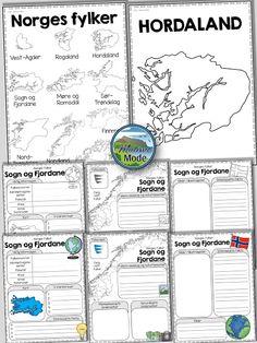Vi lærer av å utforske! Send elevene på jakt etter kunnskap med å undersøke. Prosjekt eller individuelt arbeid om fylkene! Too Cool For School, School Projects, Language, Bullet Journal, Teacher, Education, Barn, First Grade, Poster