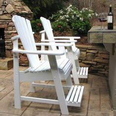 Outdoor Weathercraft Designers Choice Painted Balcony Adirondack Chair with Footrest Mango - 402-507