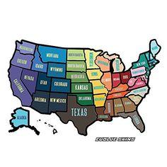 "Modern RV Trailer Camper USA Map Sticker Decal ● Removable 50 States Stickers ● Travel & Roadtrip Friendly ● 13"" x 17"" inches, http://www.amazon.com/dp/B01CIUV22O/ref=cm_sw_r_pi_awdm_9fn4wb1NT95CF"