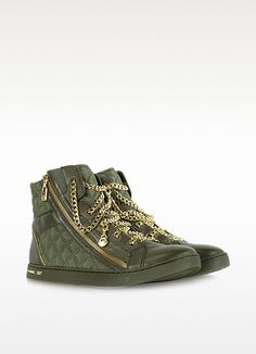 Michael Kors Quilted Nylon Urban Chain High Top Sneaker