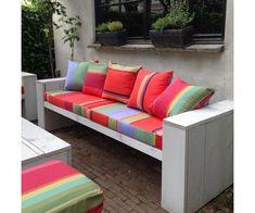 outdoor stof ara 175 en 43 cm breed verkrijgbaar bij kleurmeester #stof #buiten #tuinkussens #doehetzelf #lounge