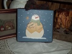 Hey, I found this really awesome Etsy listing at https://www.etsy.com/listing/251379274/hand-painted-wooden-block-snowman