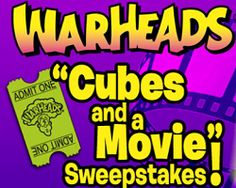 FREE Warheads Cubes and a Movie Sweepstakes and Instant Win Game on http://hunt4freebies.com/sweepstakes
