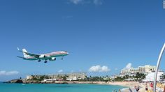 On St. Maarten, Princess Juliana Airport (named after Dutch royalty) has people grabbing for their cameras every time a plane makes its way to the runway, which starts mere meters from the edge of the ocean.