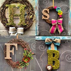 {ETSY FINDS} CLMahler Monogram Wreaths