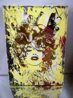 NYC CANVAS PAINTING BY MUSK YAI 11X14 GRAFFITI ABSTRACT 2014 Medusa~ #PopArt