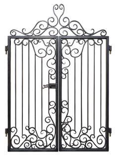 Custom Entrance Gates - Iron Scroll Design - handcrafted by master blacksmiths Más
