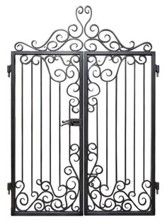 Custom Entrance Gates - Iron Scroll Design - handcrafted by master blacksmiths