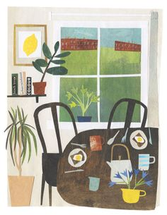 Breakfast on the Common - Limited Edition giclee artprint Leeds College Of Art, Paper Collage Art, Paper Art, Art Folder, Tatting Patterns, Painted Paper, Paper Cutting, Cut Paper, Art Paintings
