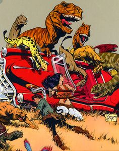 "Mark Schultz: A ""Cadillacs & Dinosaurs"" cover. Gorgeous!"