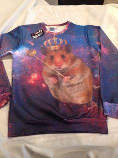 Ladies Hamster Sweatshirt Blue NWTAGS Size L | eBay
