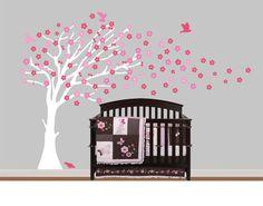Girls White Cherry Blossom TreeChildren Nursery by NurseryWallArt, $79.99