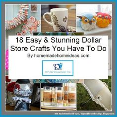 DIY And Household Tips: 18 Easy & Stunning Dollar Store Crafts You Have To...