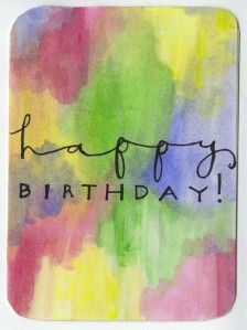 happy birthday watercolor card.