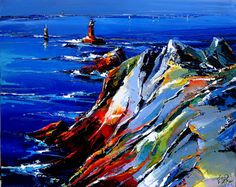 Eric Le Pape, artiste peintre de Bretagne | Peintures de Bretagne : côte bretonne, port de pêche, bateau, mer...