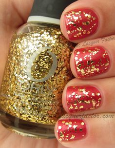 @ORLY BeautyBuzz Too Fab over OPI Danke-Shiny Red