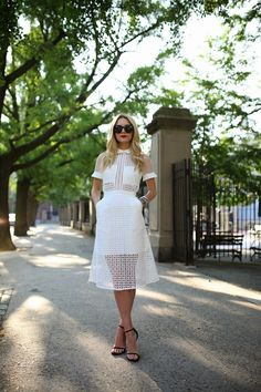 all white cut out outfit