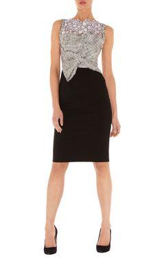 Dresses | Black Lace & tweed shift dress | KarenMillen Stores Limited