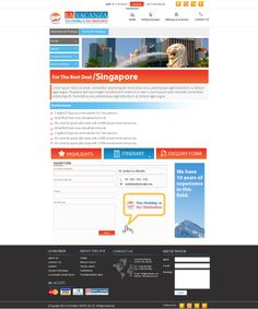 Inquiry form for travel website.   Contact us Today: http://softtrix.com/contact.php
