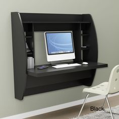 Broadway Floating Desk with Storage    For optimal storage solution...    www.overstock.com  $193.99