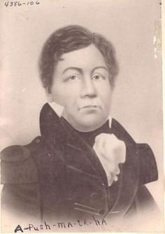 Portrait photograph of the Choctaw Chief Pushmataha.