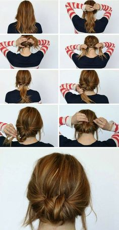 Chic Chignon hairstyle is perfect for you, if you want to special hairdo for a party or occasion. Chignon hairstyle gives a unique look to your hair. Summer Hair Buns, Easy Hair Buns, Braids Easy, Dutch Braids, Simple Braids, Good Hair Day, Tips Belleza, Pretty Hairstyles, Summer Hairstyles