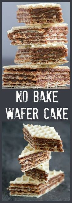 Balkan No Bake Wafer Cake – Balkan Lunch Box Balkan No Bake Wafer Cake: layered tort wafers connected with a smooth filling made out of chocolate, butter and walnut melted in hot milk. Chocolate Wafer Cookies, Chocolate Wafers, Chocolate Filling, Chocolate Butter, Brze Torte, Kolaci I Torte, Romanian Desserts, Romanian Food, Wafer Cake Recipe