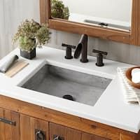 A versitile concrete bathroom sink, Nipomo's clean, rectangular lines look fantastic as an apron-front sink, undermount sink or a vessel sink. Modern Bathroom, Small Bathroom, Master Bathroom, Dyi Bathroom, Apron Front Sink, Bathroom Mirror Cabinet, Concrete Bathroom, Stone Bathroom, Bathroom Renos
