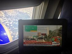Keeping up with Hurricane news on @MSNBC from 37000' on @southwestair #magic #magician #comedymagic #entertainment #eventprofs