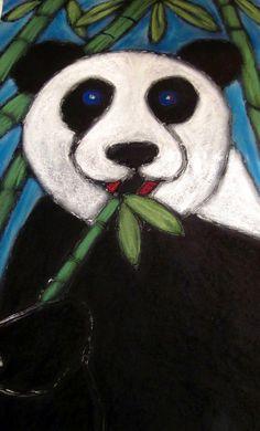Pastel-glue Panda....for 'Around The World' art camp (China). So fun to do...